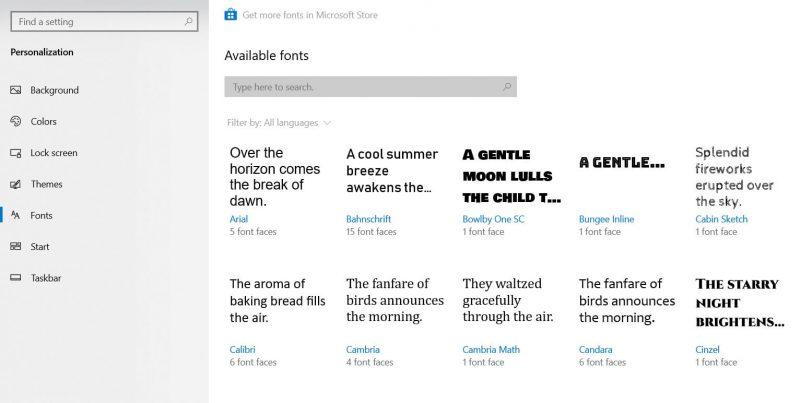 Cara Tambah Font di Windows Store