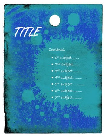 Desain Cover Biru Splash