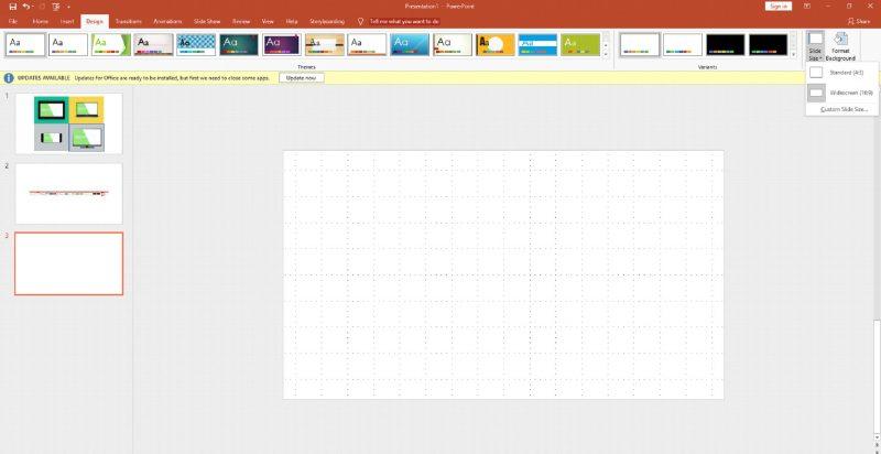Setting Slide Widescreen