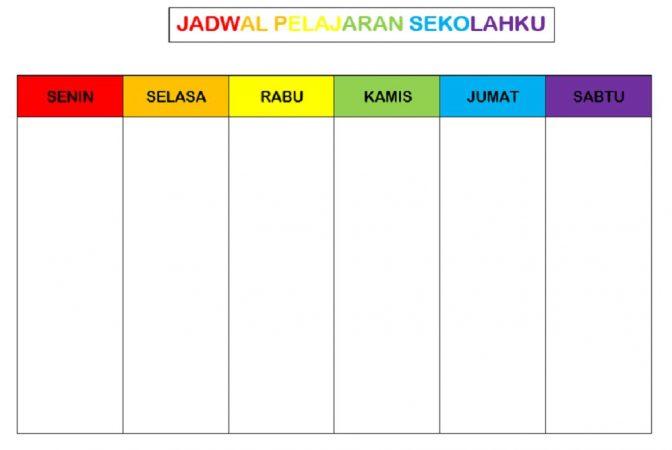 Template Jadwal Pelajaran