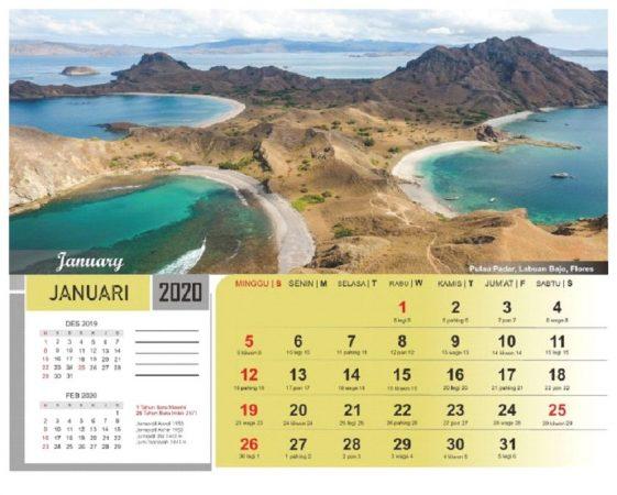 Kalender Pemandangan 2020