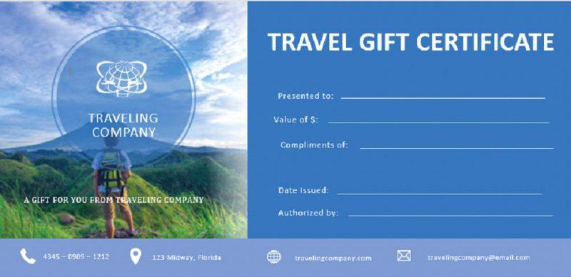 Template Sertifikat Travel