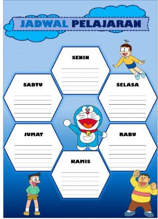 Template Jadwal Pelajaran Doraemon